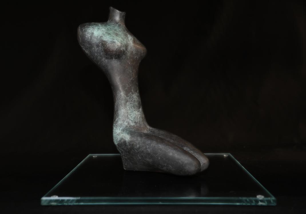 Heidrun Feistner: Erinnerung an Ägypten / Bronzefassung / Exemplar 1/5 / 29 cm / 2017 / Foto Jean Molitor