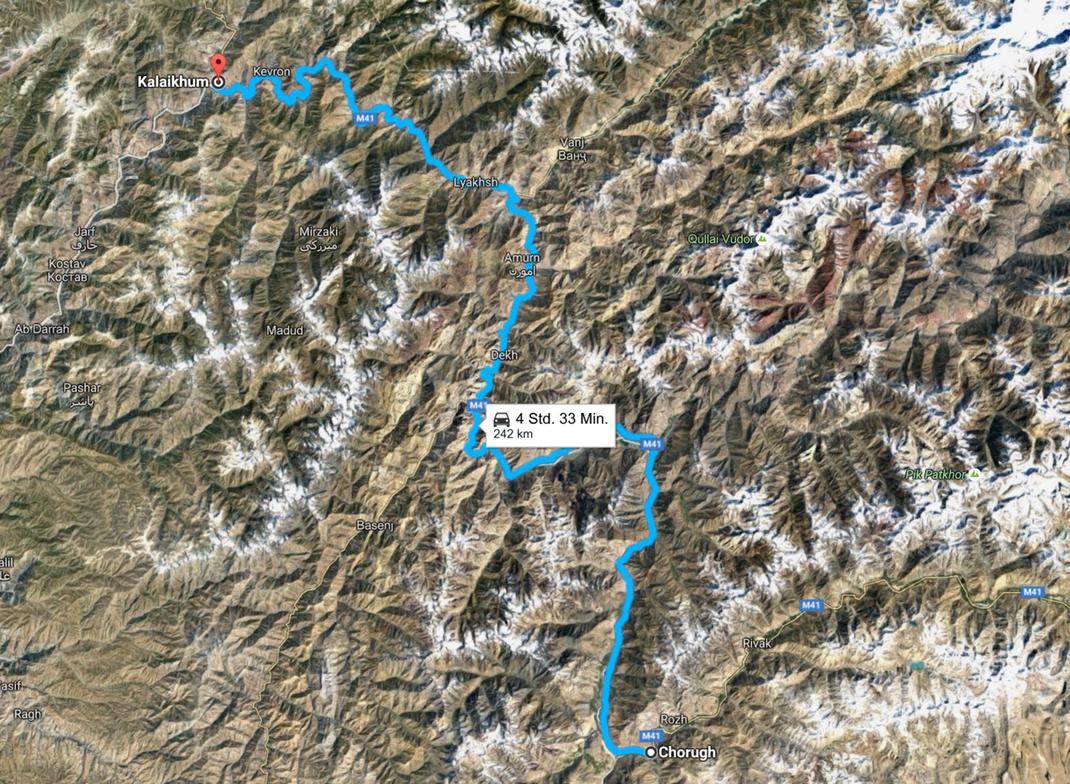 Tajikistan, The Road from Kalaikum to Chorugh, always along the Afghan Border