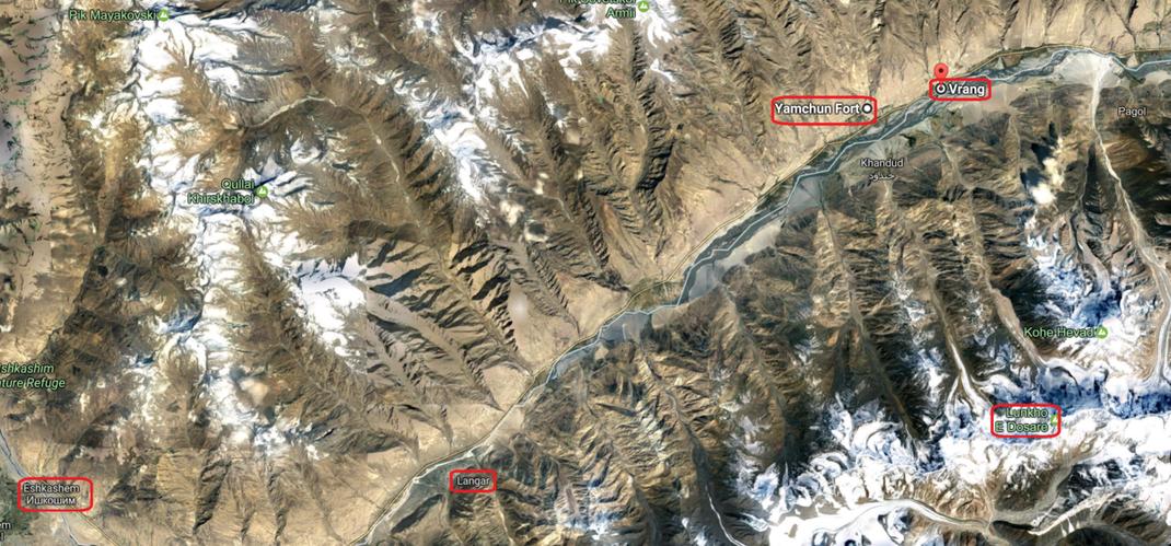 Tajikistan. Road from Eshkashem to Vrang via Langar and Yamg