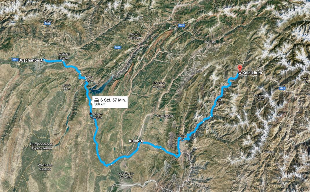 Tajikistan, from Dushanbe to Kalaikum