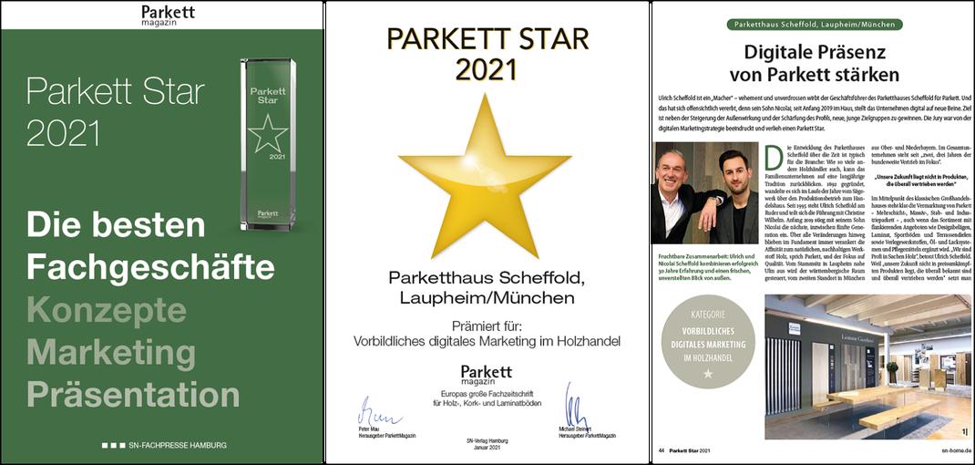 Parketthaus Scheffold Parkett Stars 2021 Parkett Magazin