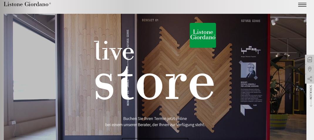 Parketthaus Scheffold Aktuelles Listone Giordano - Live Store & Open Desk für Architekten und Designer