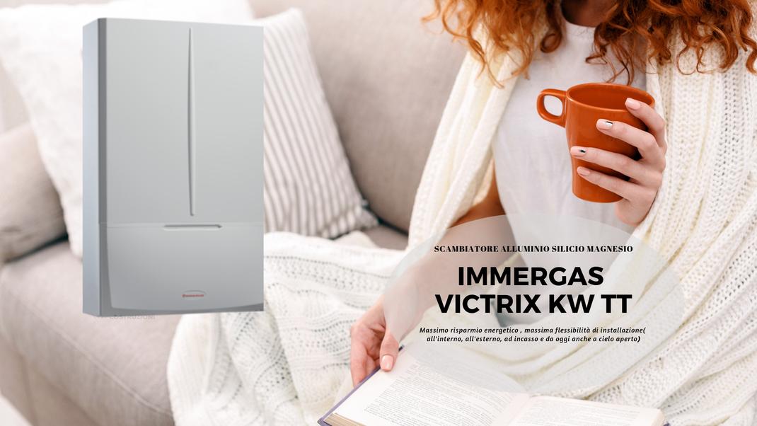 Offerta preventivo Caldaia  a condensazione immergas victrix kw tt 28 kw in promozione a Torino installazione inclusa