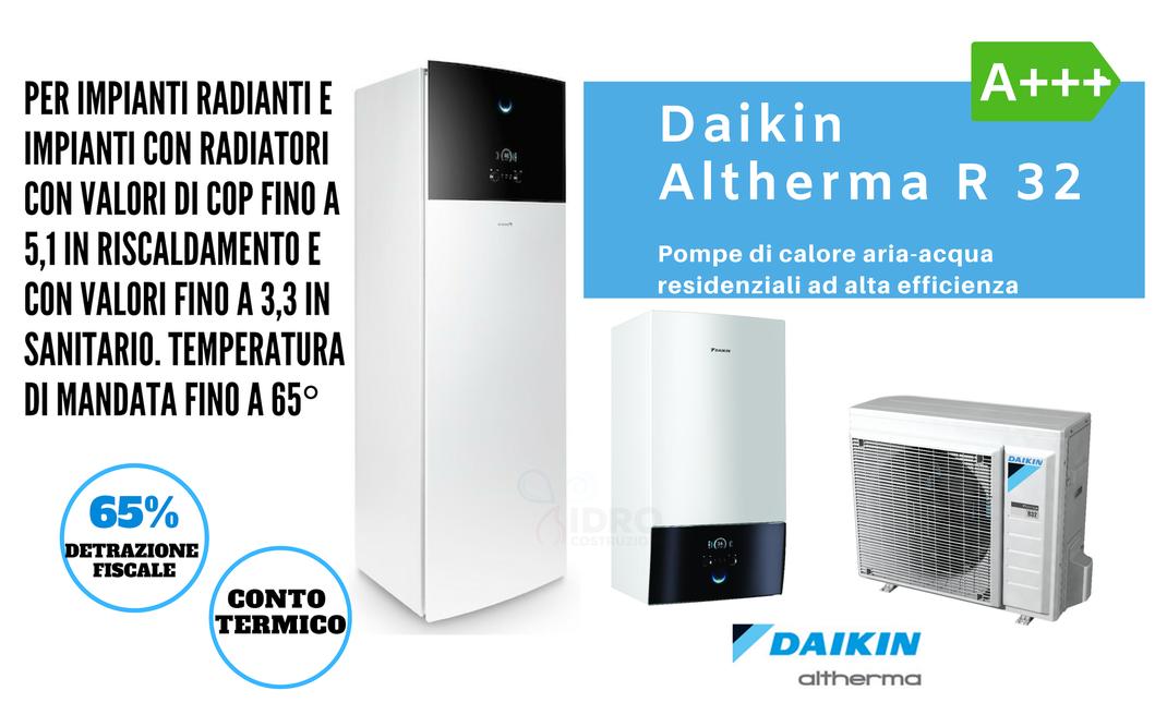 vendita e installazione pompe di calore a bassa temperatura daikin hpsu hitemp al miglior prezzo di torino e provincia