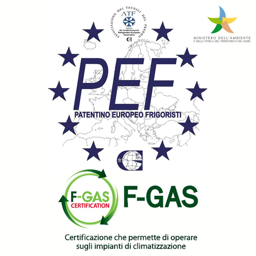 certificazioni e patentino obbligatori per ricaricare i condizionatori e i climatizzatori
