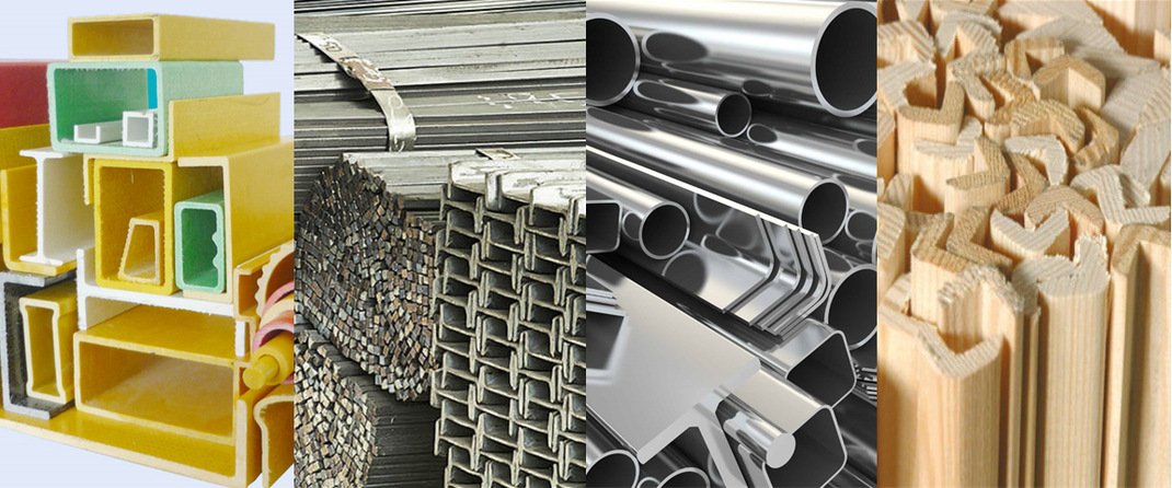 Comparación FRP vs Acero, Aluminio y Madera