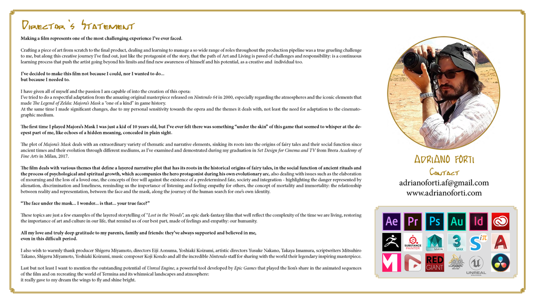 Director's statement from Lost in the Woods - Art & Design + Storyboard | Click on the image to enlarge