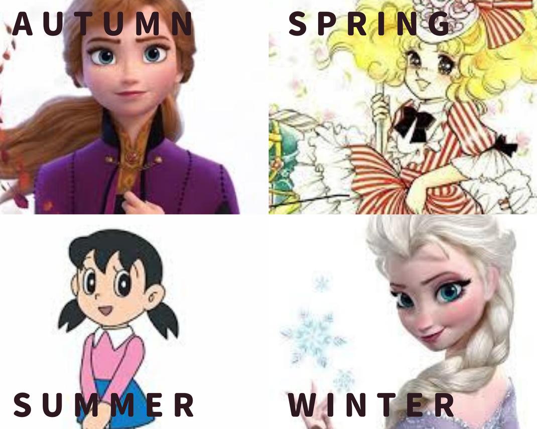 キャラクターで見分けるパーソナルカラー