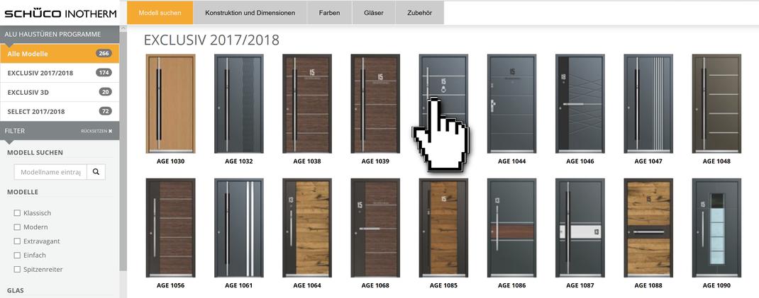 Alu Haustüren online konfigurieren in Eschweiler - Anfrage senden Inotherm