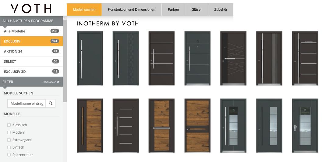 Alu Haustüren online konfigurieren in Frechen