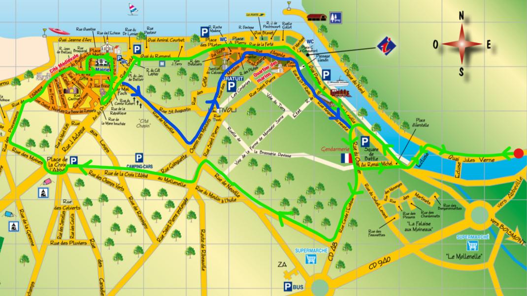 location-trottinette électrique-baie de somme - ballades - nature - circuits conseillés - Saint Valery sur Somme - insolite - famille- amis- séminaire- freetrotts - phoques - bateaux - vieille ville - monuments