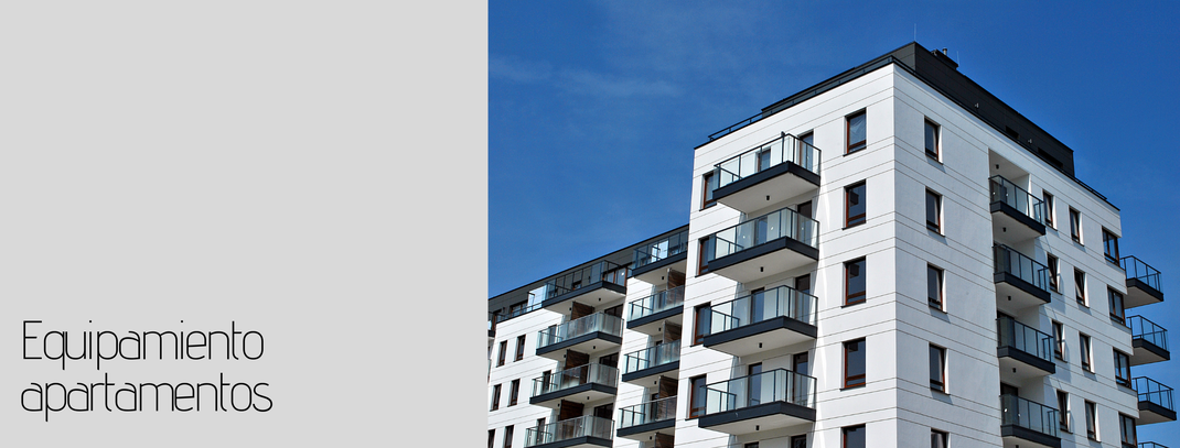 Equipamiento de apartamentos turisticos, mobiliario para apartamentos turisticos, sofas cama para apartamentos, muebles de apartamentos. fabricamos muebles para apartamentos.