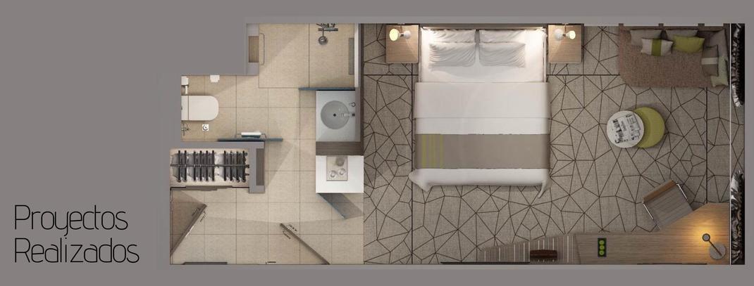Proyectos realizados por tu hotel contract, equipamiento de habitaciones de hotel, restaurantes y zonas exteriores. Fabricación e instalación de mobiliario para hoteles.