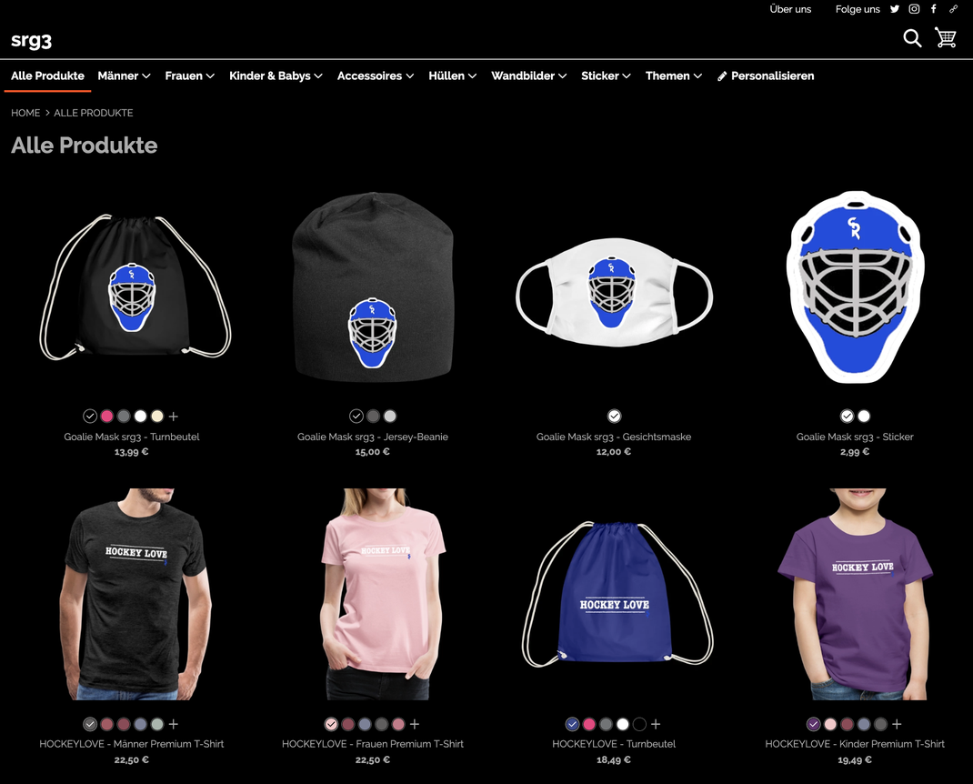 Der Shop für alle Eishockey-Liebhaber - show your HOCKEY LOVE!