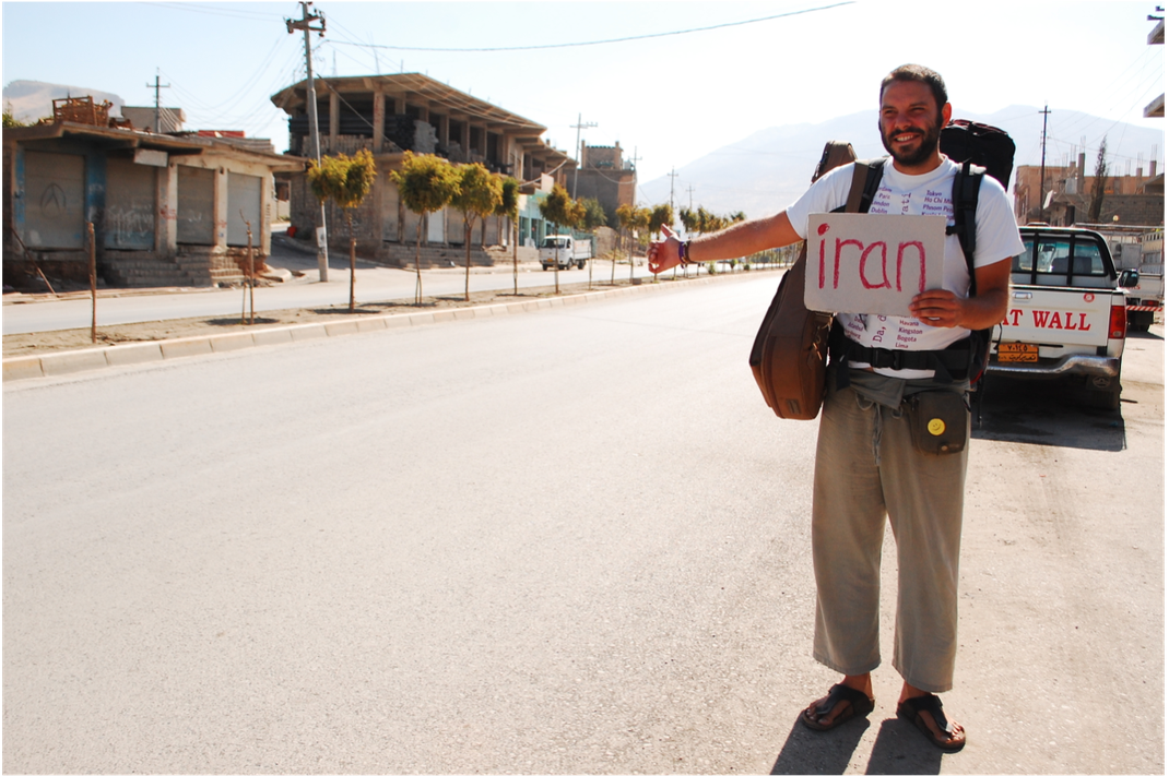 Tomislav Perko hitchhiking to Iran