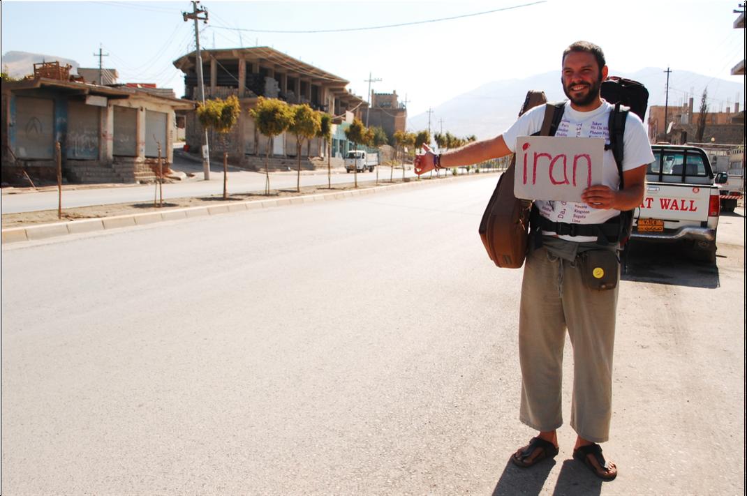 Tomislav Perko hitchhiking to Iran