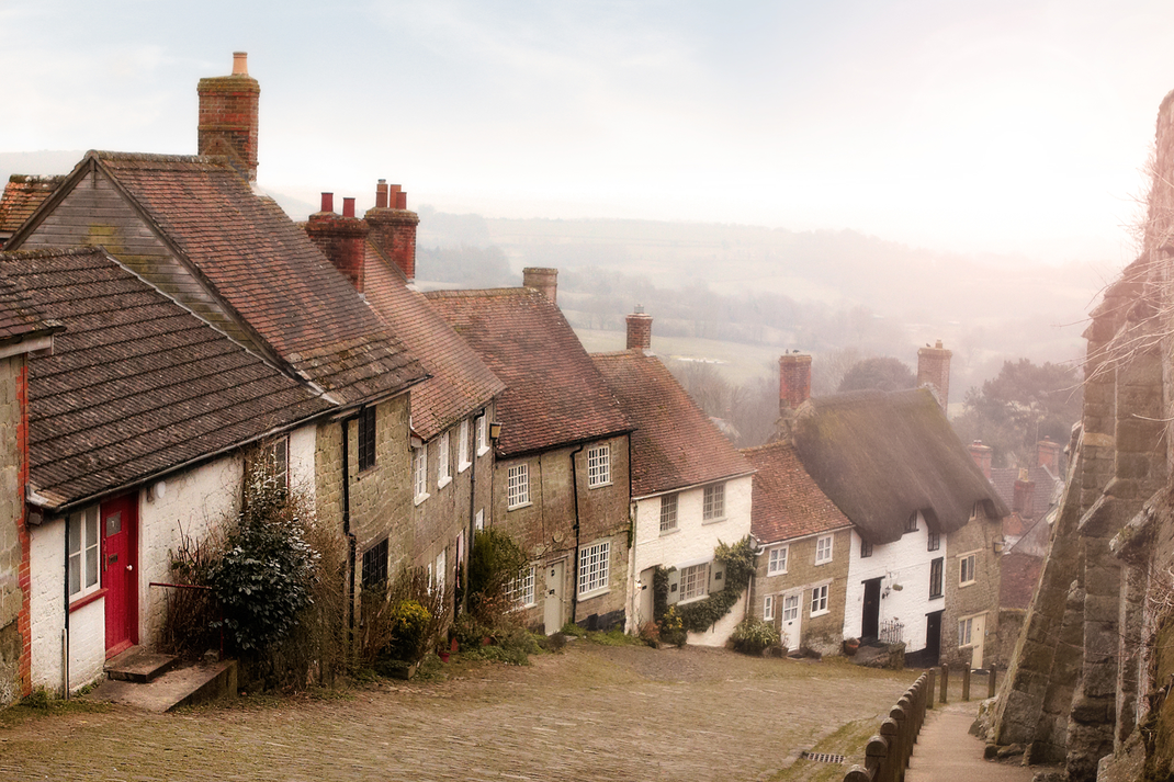 """Gold Hill""  Shaftesbury, England"