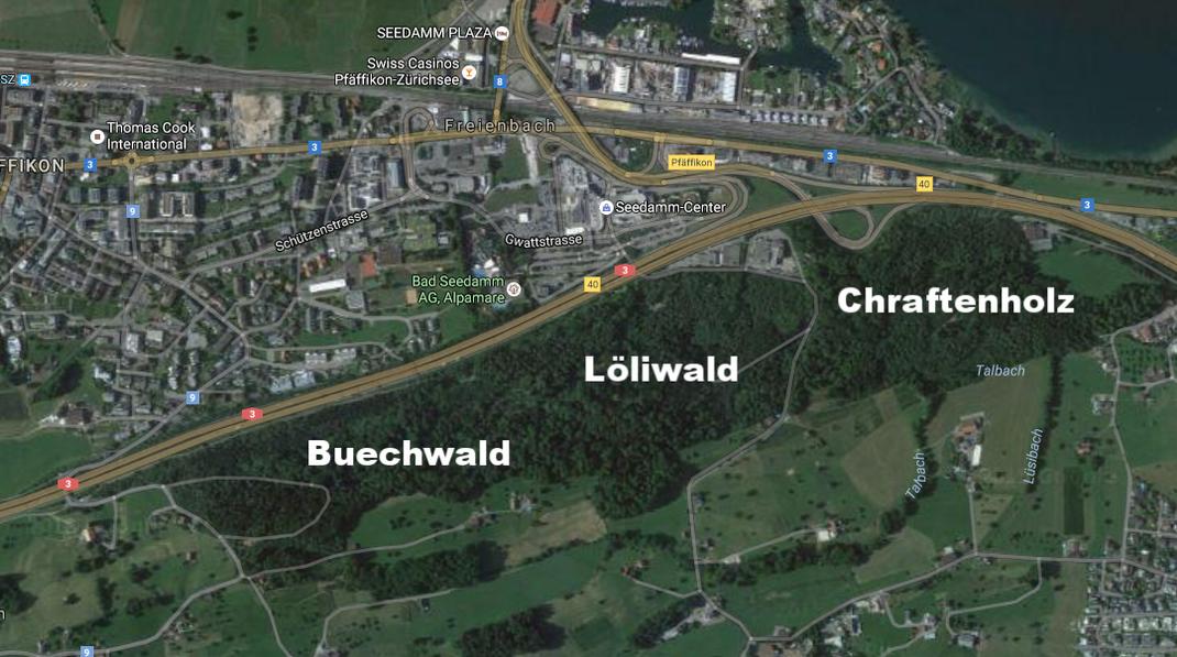 Kartenausschnitt aus GoogleMaps