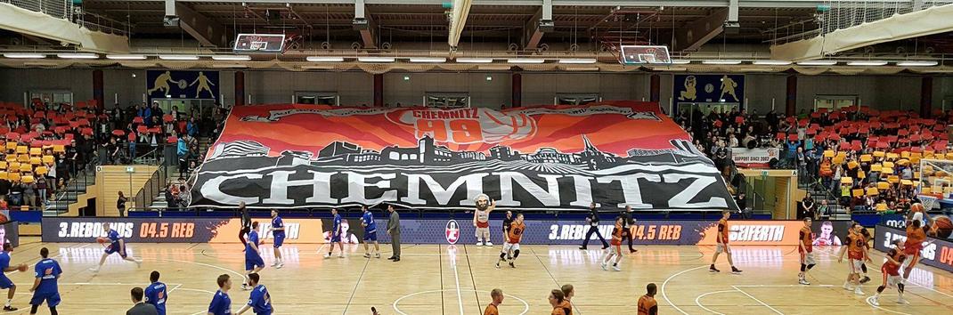 Choreo beim Heimspiel der NINERS gegen die Oettinger Rockets am 07.01.2017