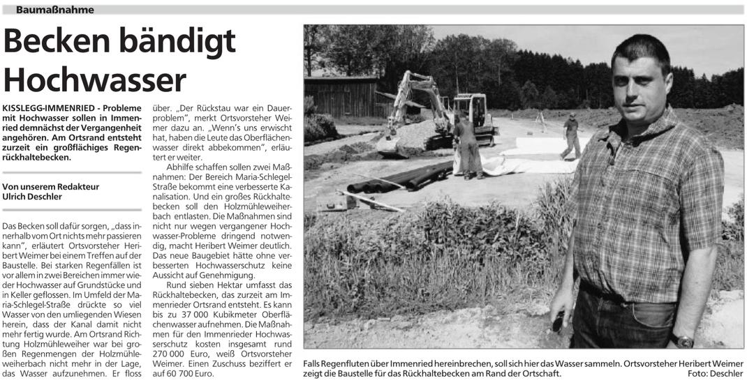 Schwäbische Zeitung vom 24.6.2006