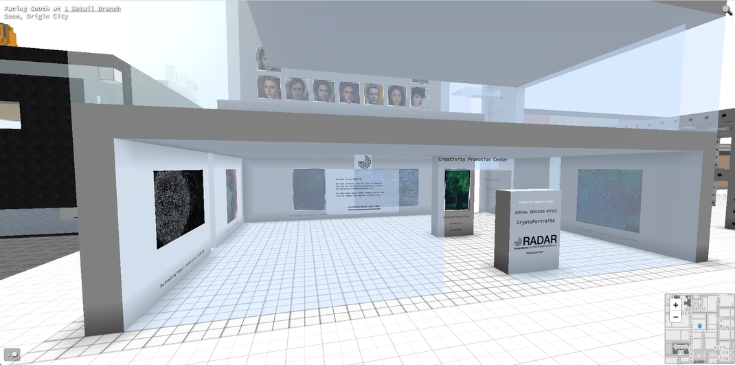The RADAR HQ in Cryptovoxels