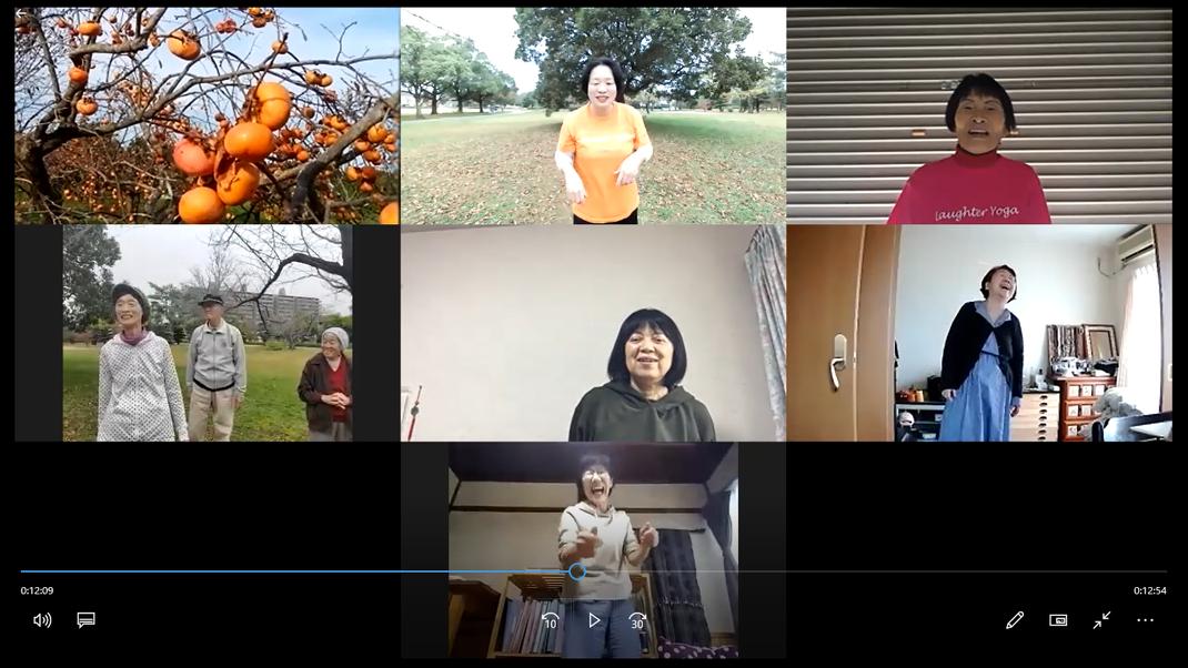 2020年11月7日松阪市鈴の森公園笑いヨガ(ラフターヨガ)オンライン