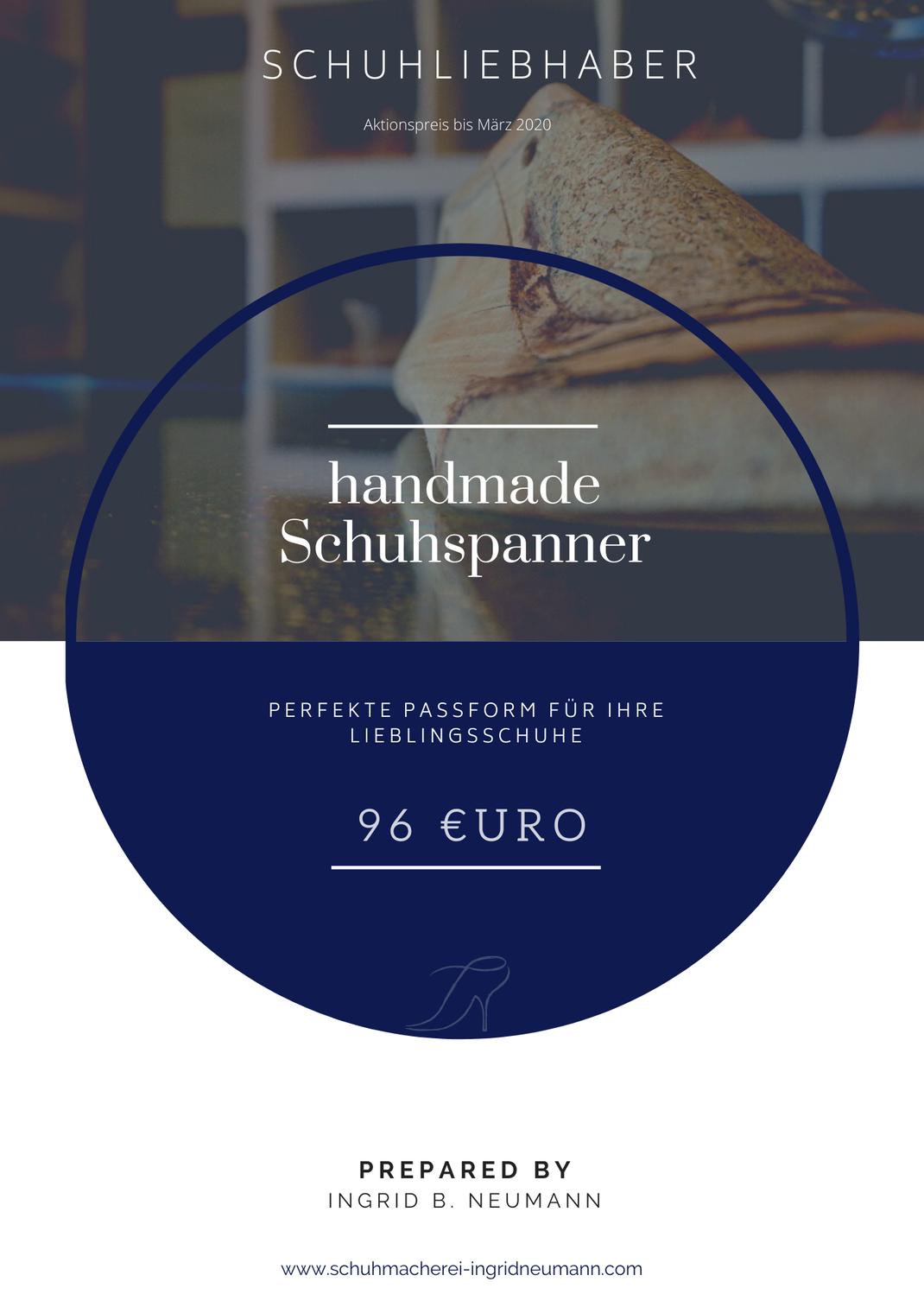 Handgemachter Schuhspanner 2020