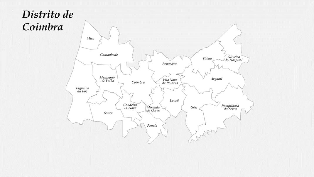 Concelhos do distrito de Coimbra