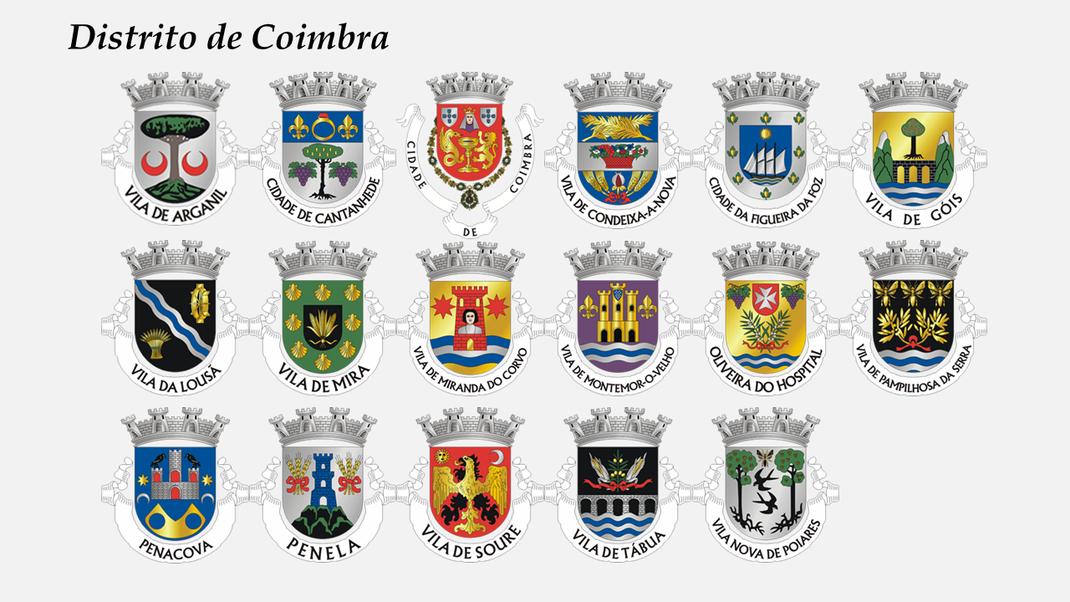 Brasões dos concelhos do distrito de Coimbra