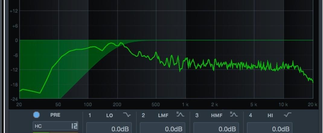 高域の周波数だけを通すハイパスフィルター