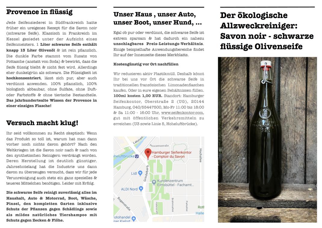 Unser Merkblatt mit Anwendungsbeispielen legen wir jeder Bestellung als Ausdruck auf Ökopapier bei. Ihr könnt es ganz unten auf der Seite auch als pdf herunterladen!