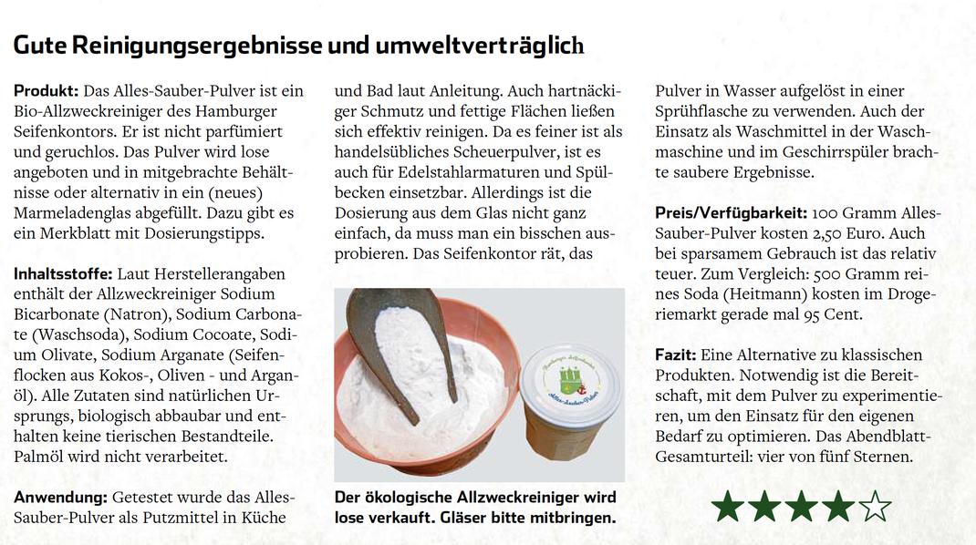 Quelle: Hamburger Abendblatt, Wirtschaftsteil, S. 7 vom 17. Dezember 2019