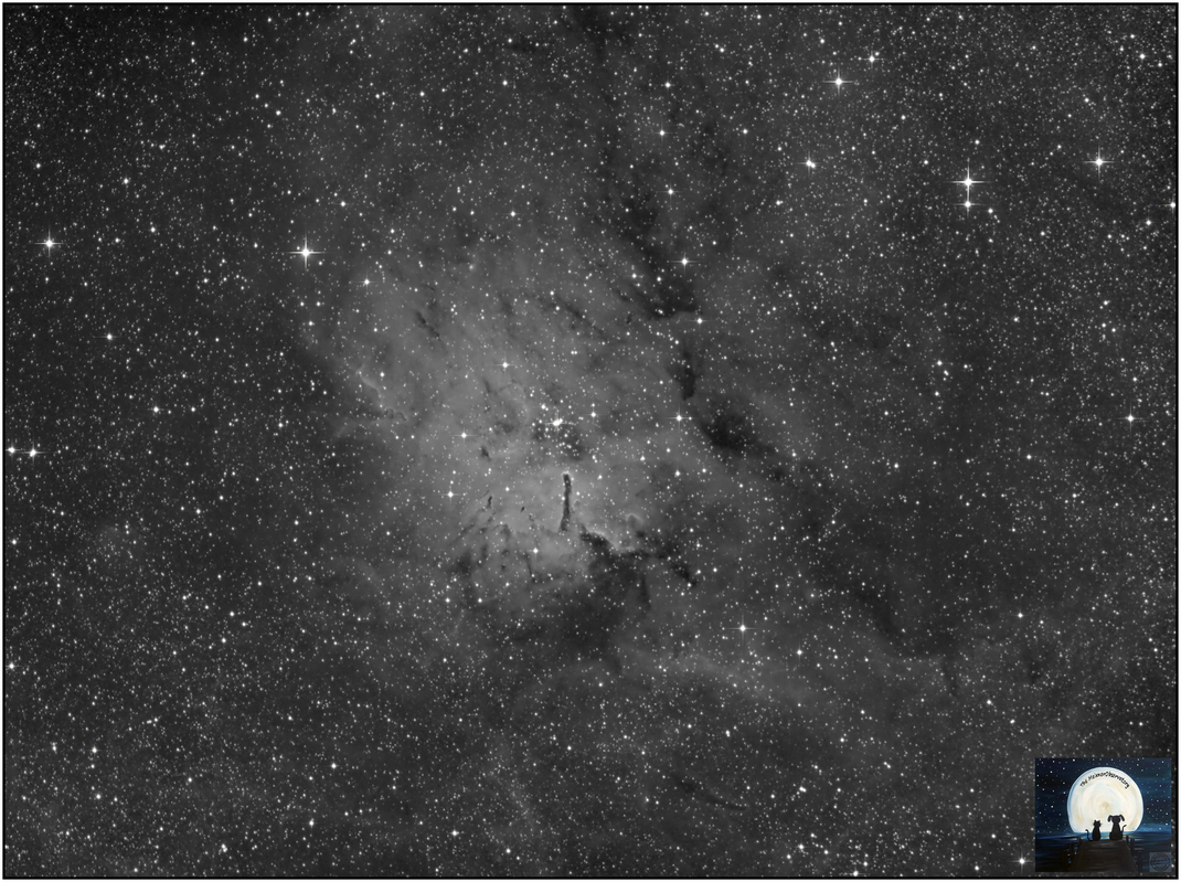 NGC 6823 • C 1941+231 • OCl 124 • Cr 405 • GC 4512 • H VII 18 • h 2049 • HAlpha Filter - MeixnerObservatorium