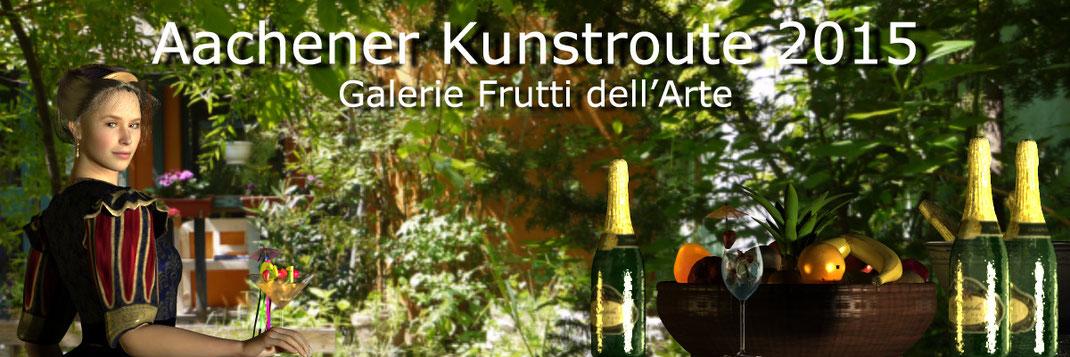 Die Aachener Kunstroute 2015 findet statt am 25., 26. und 17. September in der Aula Carolina, den Museen und Galerien der Stadt Aachen