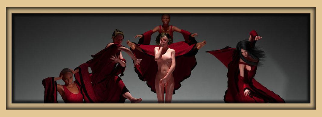 Auf der Aachener Kunstroute 2019 in der Galerie Frutti dell'Arte, Tanzbilder
