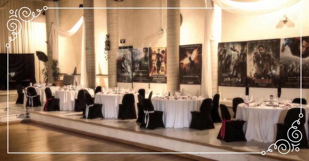 décoration salle de mariage thème cinéma - soirée de gala
