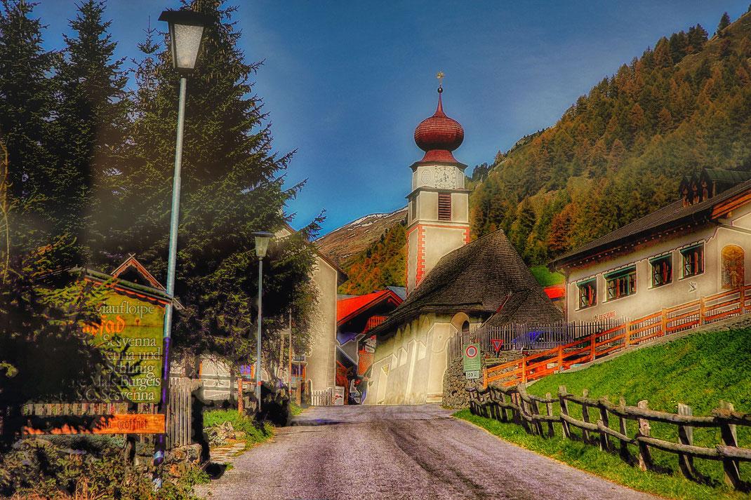 Pfarrkirche in Slingia im Vinschgau-Südtirol