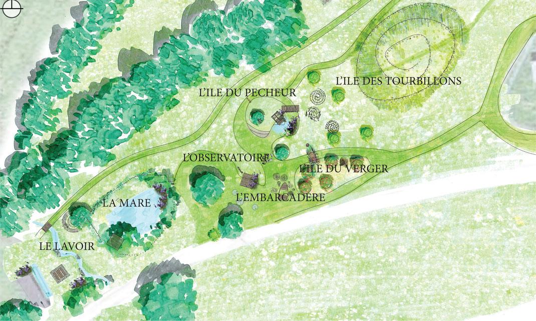 jardins d 39 enfants espaces de jeux au naturel folk paysages. Black Bedroom Furniture Sets. Home Design Ideas