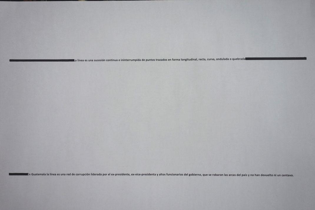 La nueva semantica guatemalteca, impresión sobre papel; Juannio 2016
