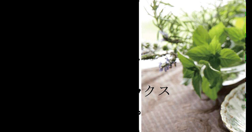ハーブの香りは、ハーブの種類によって、心や体のリフレッシュ&リラックス効果があります。