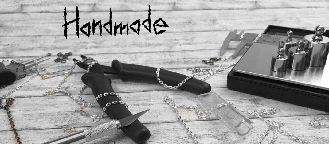 Handmade, handgefertigter Schmuck, handgefertigte Skulpturen, Schmuckstücke, Dekoration