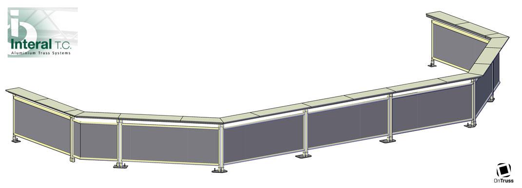 OnTruss EventBoard - Sonderprojekt mit Traversen-Hersteller Interal T.C. - CAD-Zeichnung