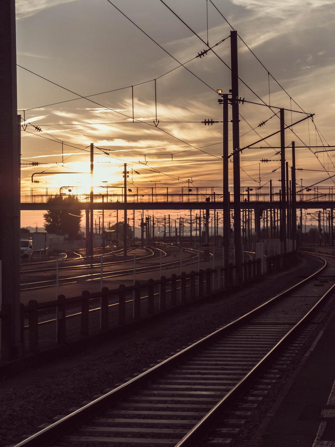 Coucher de soleil Gare d'Angers