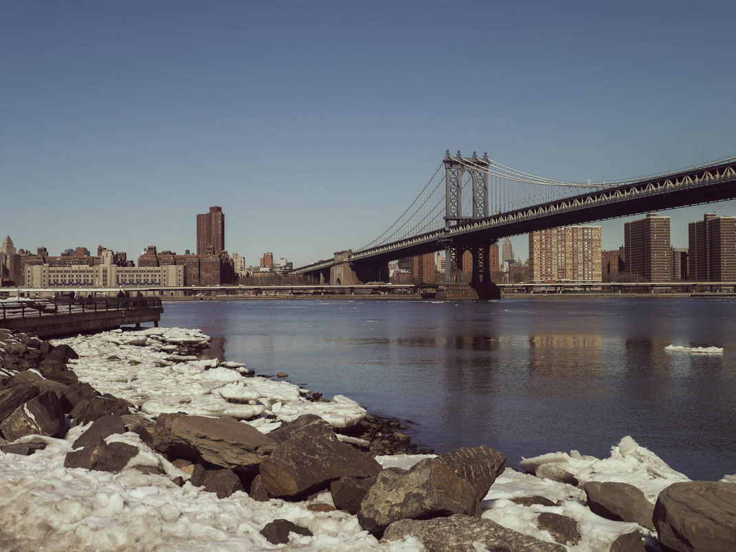 New-York Brooklyn Bridge Hiver