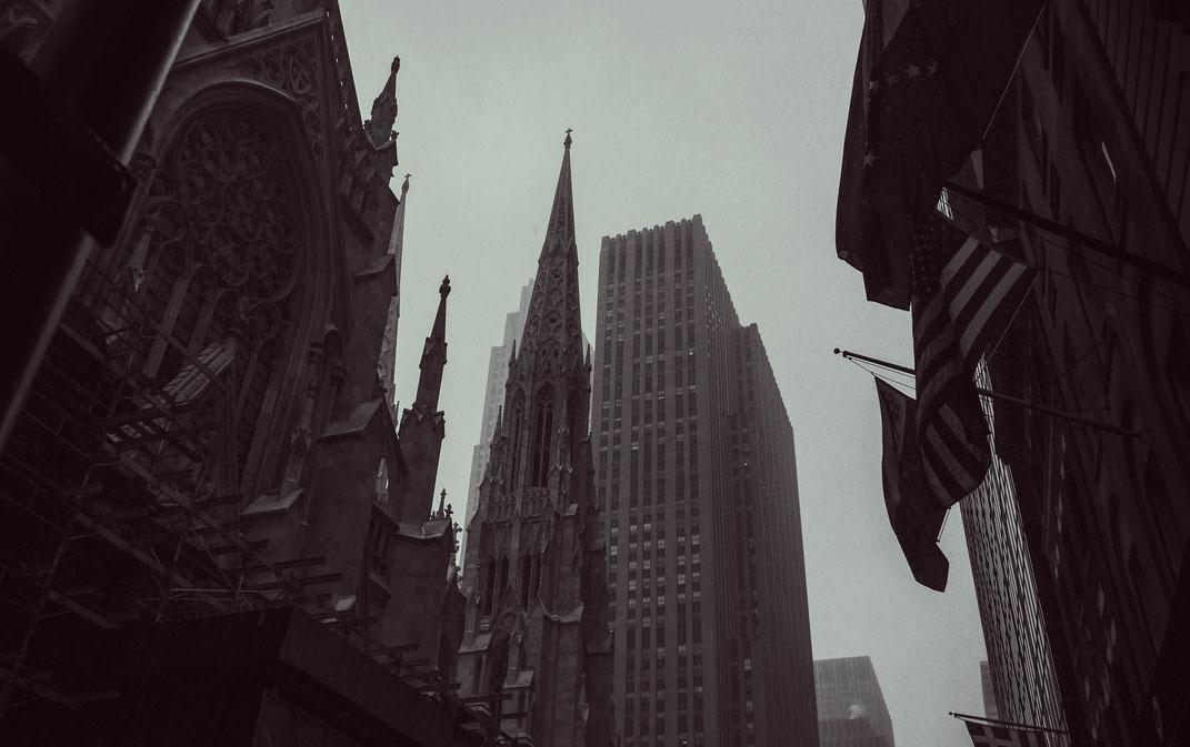 Immeubles sous la neige, New-York