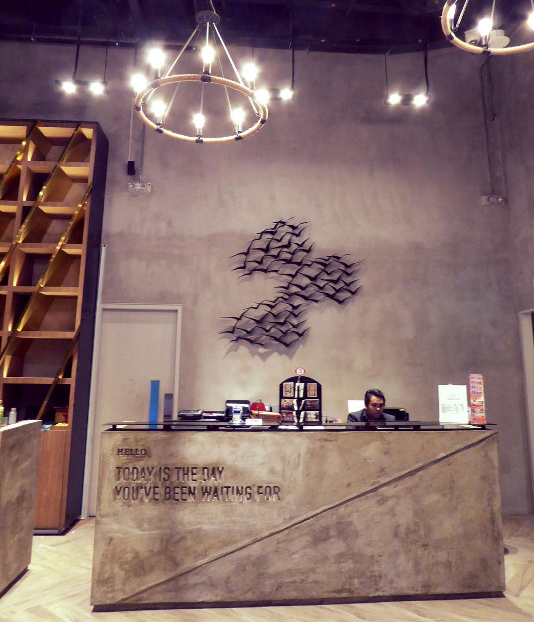Industrial Design in Singapur, Empfangsbereich im Hotel YAN