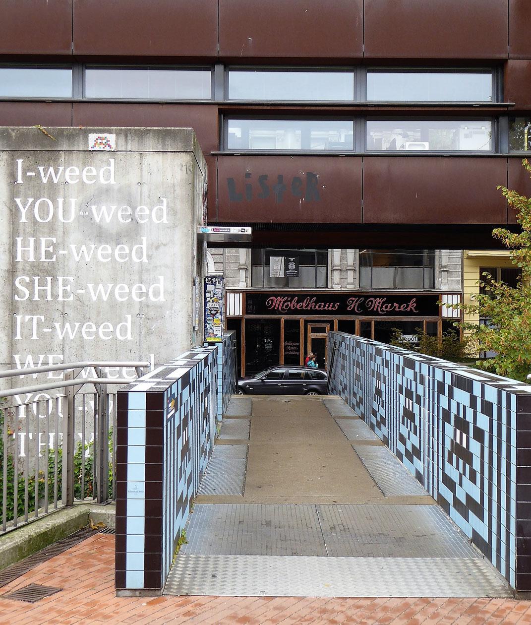 Ungewöhnliche Ausblicke im Wiener Museumsquartier.