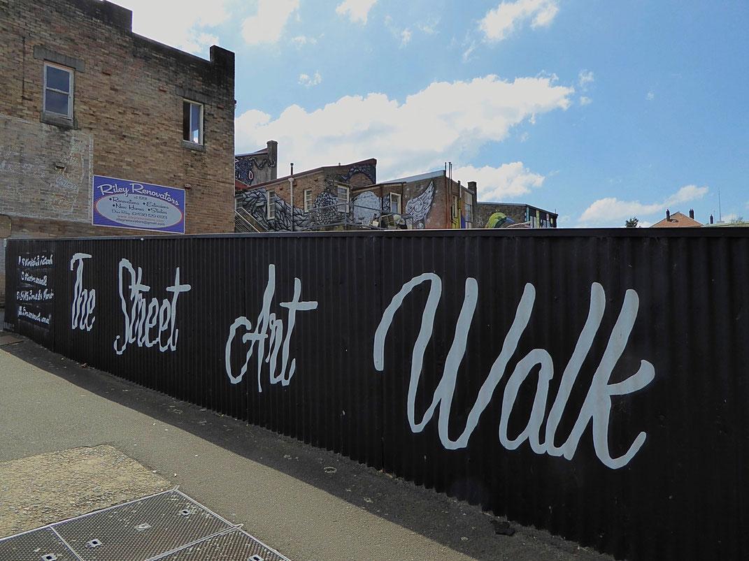 Street Art Walk in Katoomba, Australien