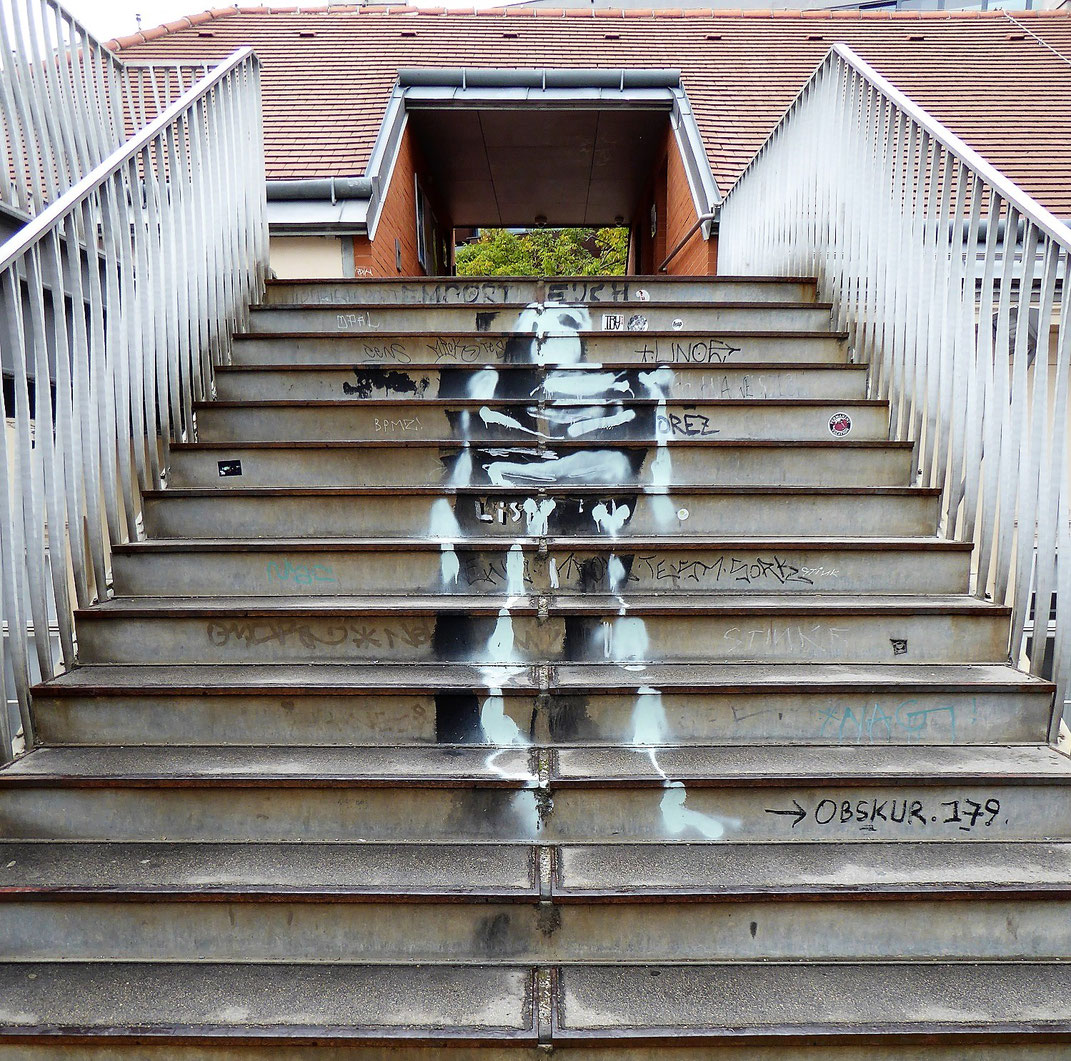 Urbane Kunst im Wiener Museumsquartier.