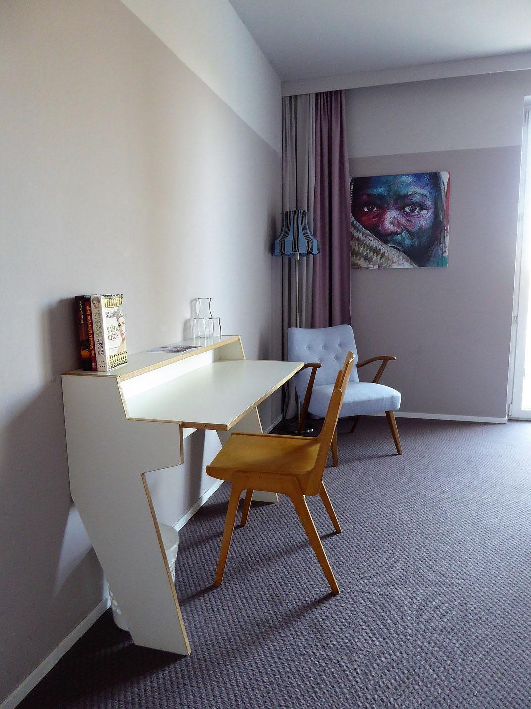 Individuelle Zimmer im magdas Hotel in Wien.
